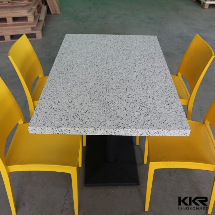 Acrylic solid surface 4 person table in customized colors