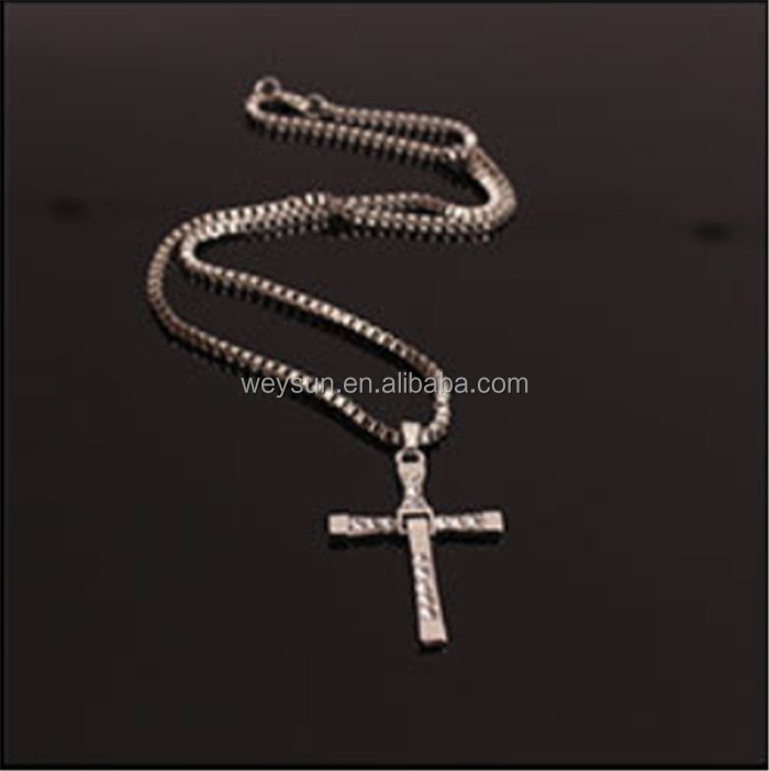 The Fast and Furious Crystal Cross Men Necklaces & Pendants Silver Color Maxi Steampunk collares Vintage Statement Necklace фото