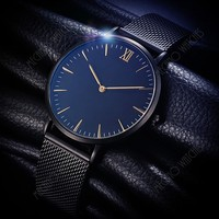 New Mesh Strap Mechanical Automatic Watch Business Leisure Ultra Thin Stainless Steel Waterproof Watch