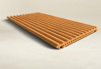 Mattonelle di terracotta tegole in argilla cotto pannello del