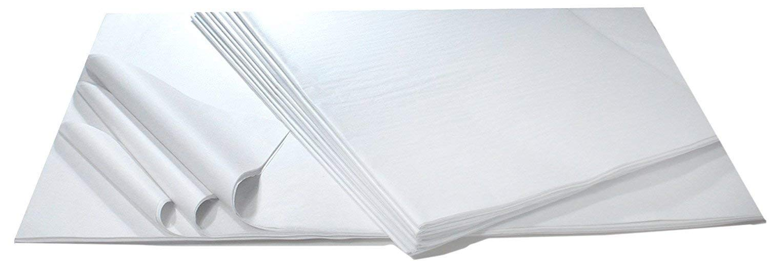 """20"""" x 30"""" Unfolded Premium White Tissue Paper- 5 Reams of 480 sheets (2,400 Sheets Total)- Used for Wrapping Gifts, Arts & Crafts, Party Decorations, Packaging & More"""