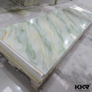 KKR Engineering Decoration Solid Surface Transparent Stone Wall Panel