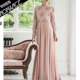 long sleeve muslim evening dress women