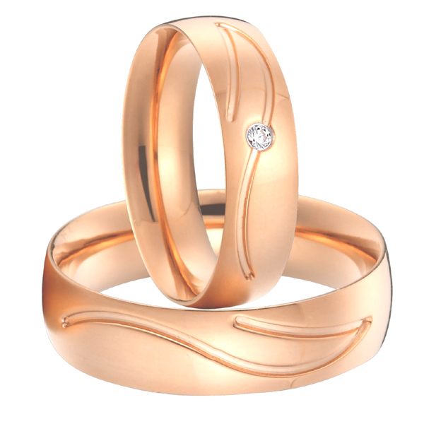 Get Quotations Anniversary Alliances Anel 18k Rose Gold Plated Anium Jewellery Wedding Bands Promise Rings Sets For S