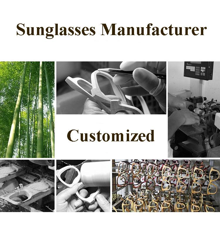 CAOSHI 100% Natural Wood Folding Vintage Package Eyeglasses Storage Handmade Wooden Sunglasses Case