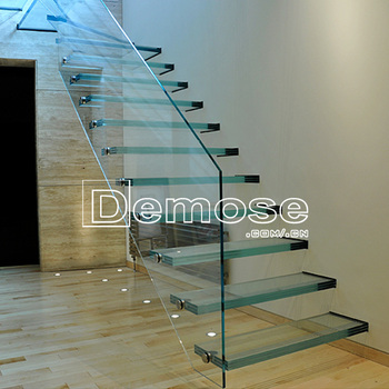 Construction Building Invisible Stringer Glass Stair/staircase - Buy  Invisible Stringer Glass Stair/staircase,Glass Stair/staircase,Construction