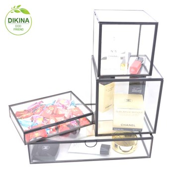 Beveled glass box: jewelry. home decor. housewares. glass. stained glass` light bulb storage box `` light bulb file storage box