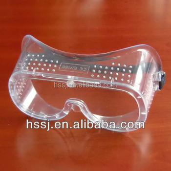 2016 safety goggles en166 100% PVC eye protection safety goggles Surgical safety goggles supplier
