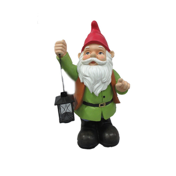Direct Factory Outdoor Resin Elf Garden Statues With Lantern Decorative