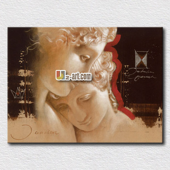 modern canvas romantic lover oil painting for bedroom wall