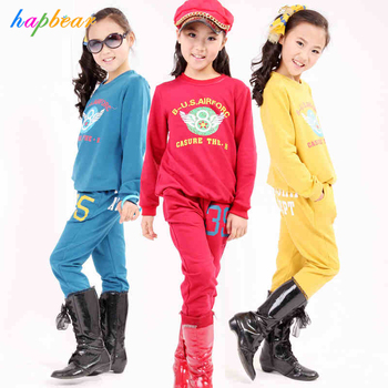 281ed4a8b3f6b New Fashion Kids Casual Spring Clothes Girls Comfort Clothing Sets ...