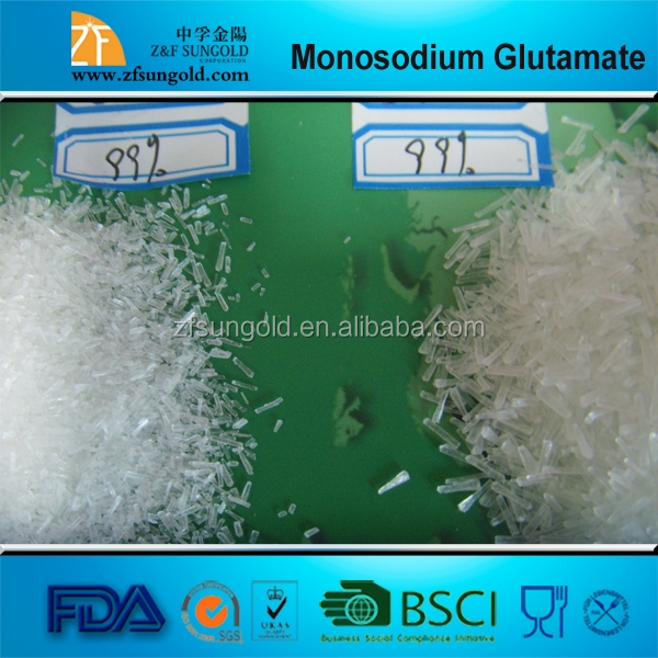 Monosodium Glutamate used to intensify flavors of foods
