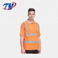 Fluorescent Class 2 Safety Polo Shirts For Man