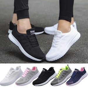 Wish Top Selling Spring Autumn Mesh Lovers Sneakers Fly Weave Light Breathable Sport Shoes Women Running Shoes