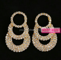 layered over-sized women crystal avenue latest earring design