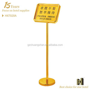 Stainless Steel Warning Sign Board Stand