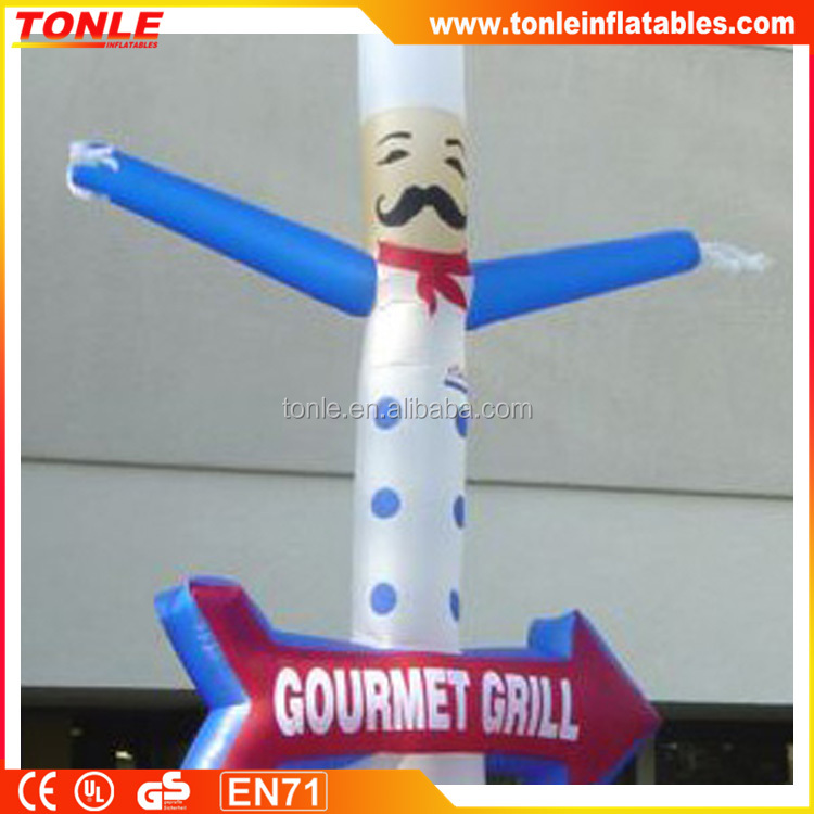 Hot sale inflatable chef sky dancer with arrow for advertising/air dancer with CE/UL blower