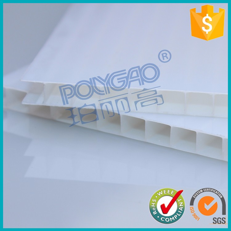 New arrival milky white 4mm twin wall polycarbonate sheet for decorative