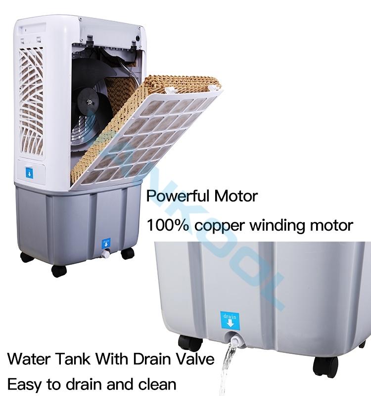 Taşınabilir evaporatif HAVA SOĞUTUCU evaporatör fan klima ev kullanımı için