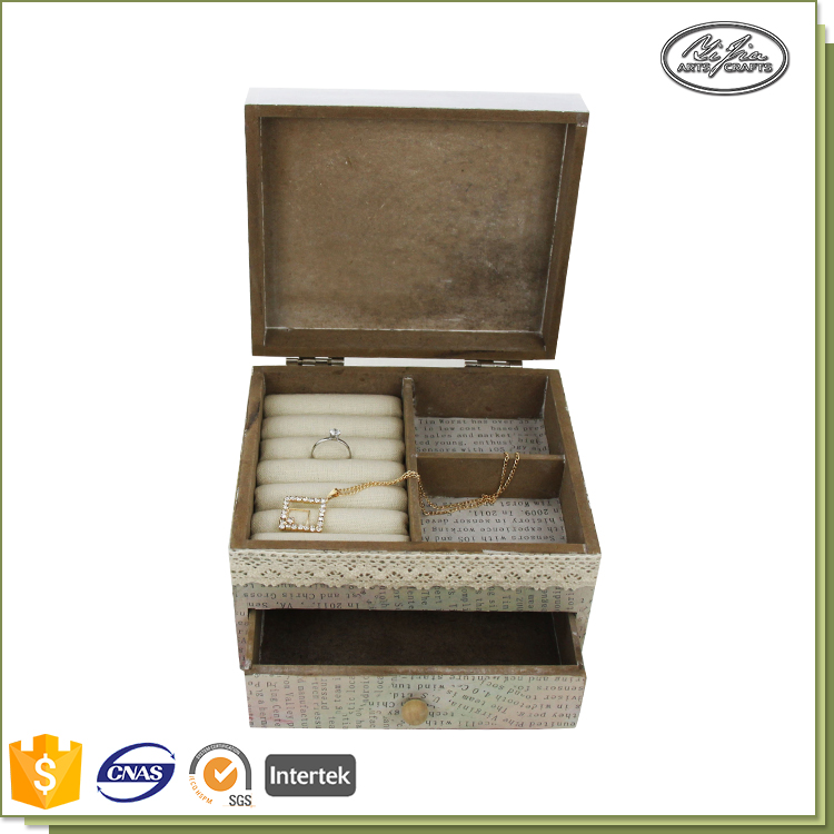 Custom large natural antique wooden jewelry box wholesale