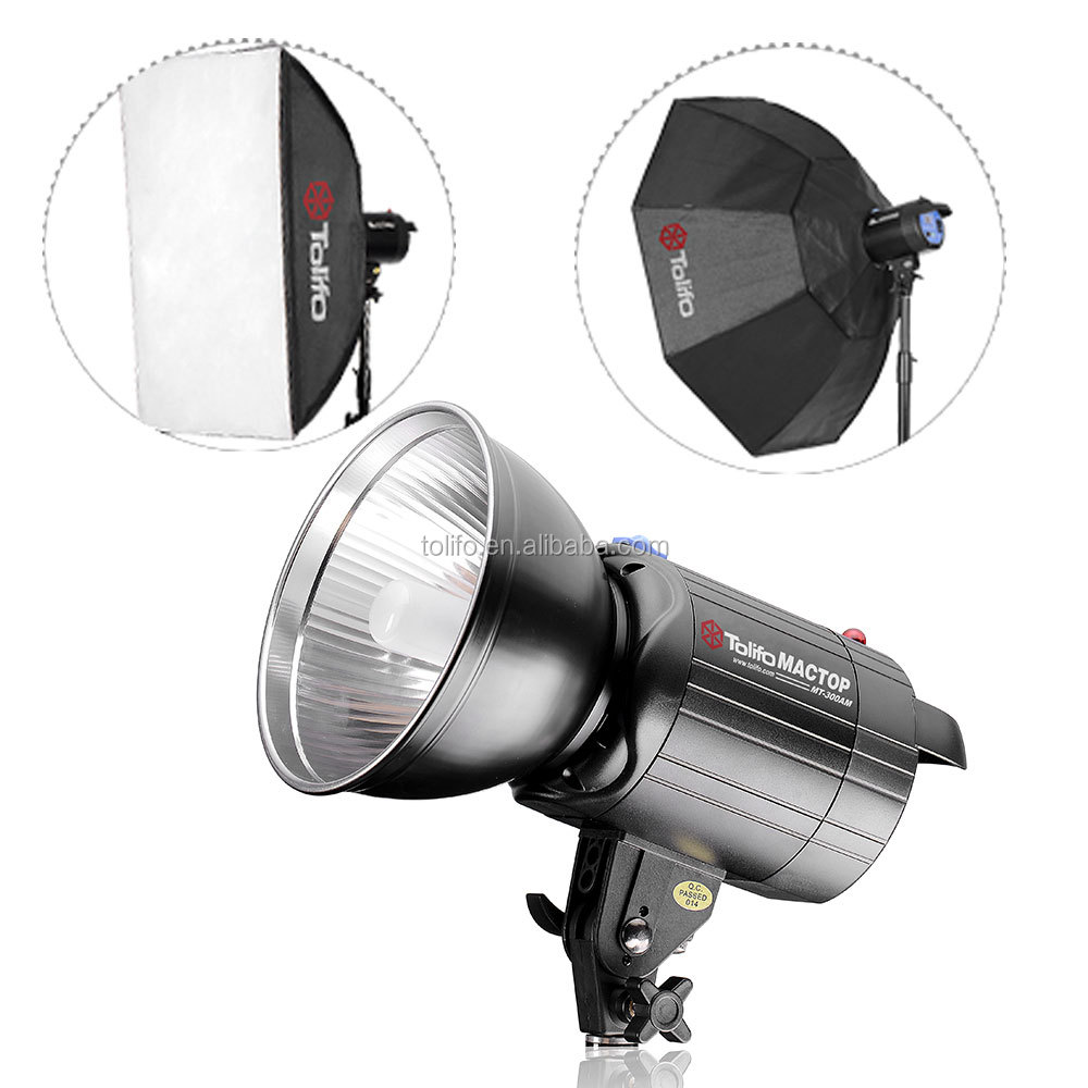 Hot Sale Tolifo MT series 600W studio lights with softbox tripod and carry bag for location photography