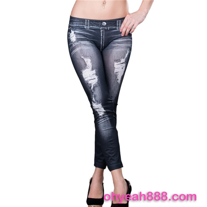 China fornecedor mulheres Imitação buraco legging barato