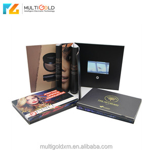 Custom Video Greeting Card 4.3 inch 10.1 inch lcd Screen Video Brochure