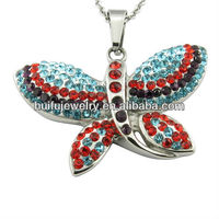jewellery manufacturer Guangzhou butterfly necklaces