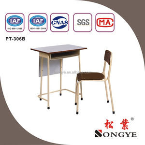 Durable and hot single desk chair , school classroom table chair for students