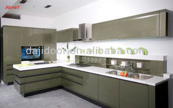 Dark Grey High Gloss Kitchen Cabinets Djk Buy Kitchen Cabinets - Dark grey gloss kitchen