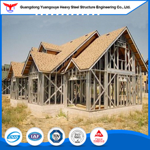 Pre made modern light steel structure houses/prefab steel and glass church house made in china