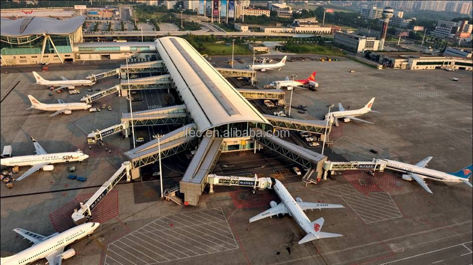 Customized national steel space frame roofing for airport