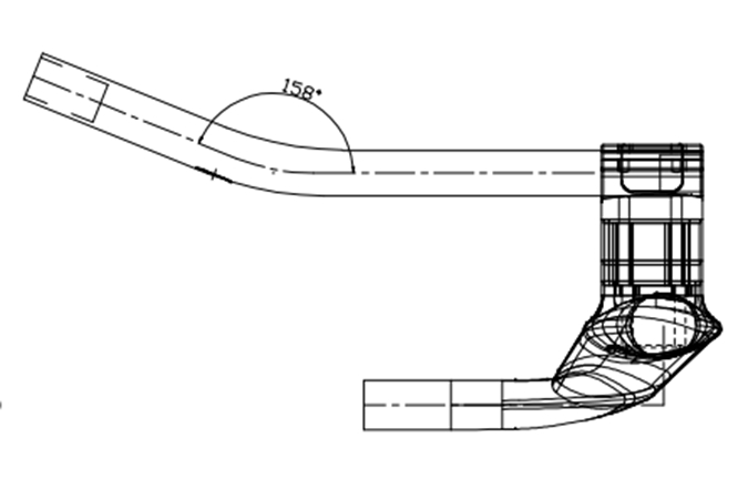 Carbon Time Trial Bicycle AERO Handlebar T800 carbon handlebar HB019