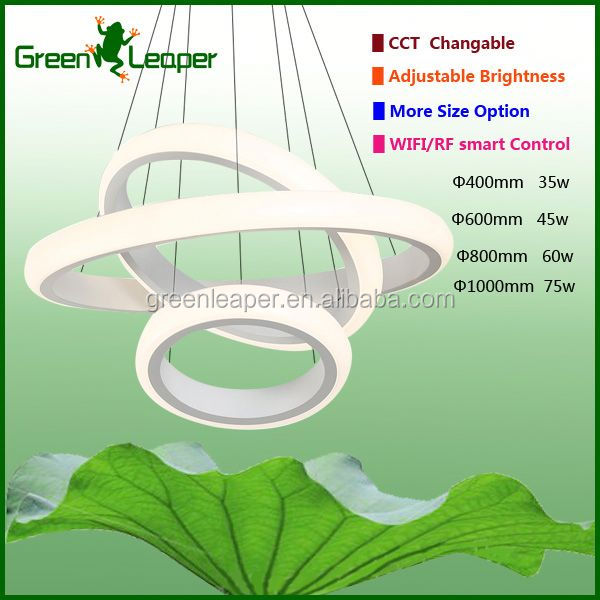 Smart WIFI chandeliers 1 layer LED hanging lamp for office