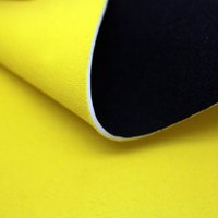2mm Black Neoprene Fabric, Lovely Yellow stretch fabric neoprene, Diving suit neoprene with nylon/polyester fabric