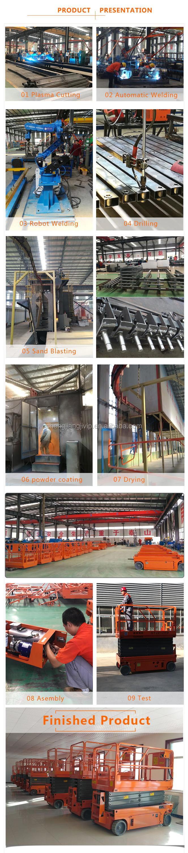 8m zelfrijdende schaarlift uit china fabrikant
