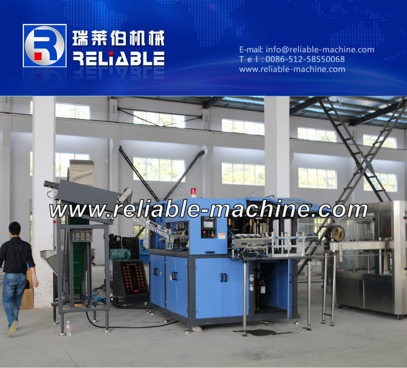 4 Cavities Plastic Bottle Blow Molding Machine Plastic Bottle Making Machine
