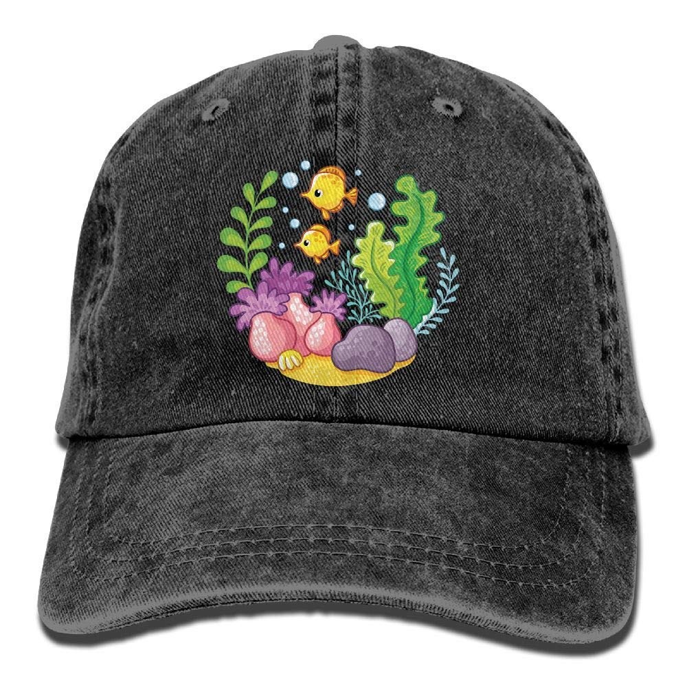 c1ff14dbd42 Get Quotations · Underwater Life Unisex Cotton Denim Twill Baseball Caps  Adjustable Plain Adult Hat