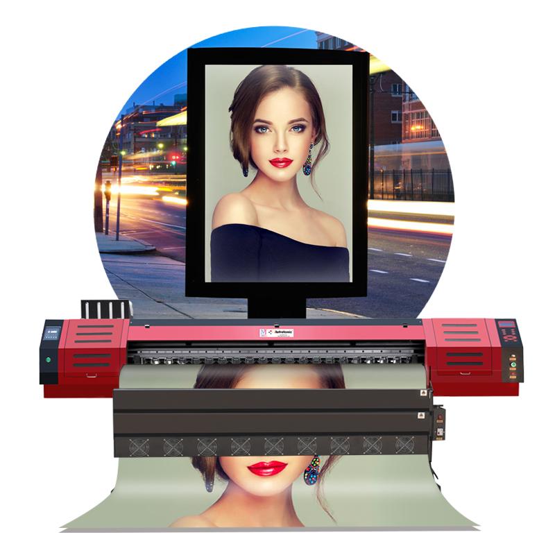 Giá rẻ Quảng Cáo Ngoài Trời lớn Công Nghiệp định dạng vinyl sinh thái dung môi máy in với DX5 Đầu In