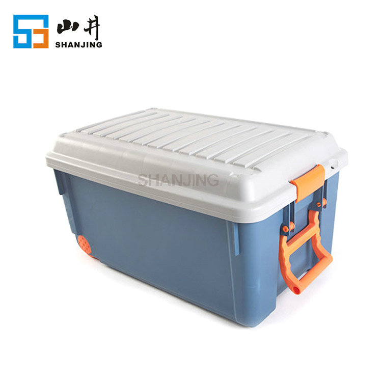 wholesale durable large colorful heavy duty stackable factory plastic storage bin for car trunk