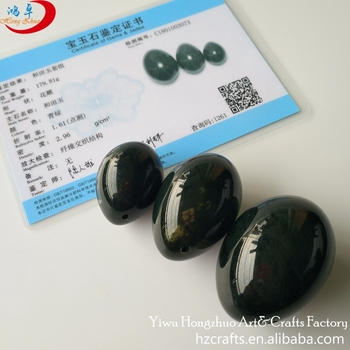 Yoni eggs wholesale supplier 100% natural jade & genuine green nephrite