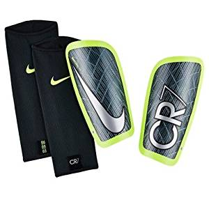 Nike CR7 Mercurial Lite Soccer Shin Guards (Seaweed, Volt)