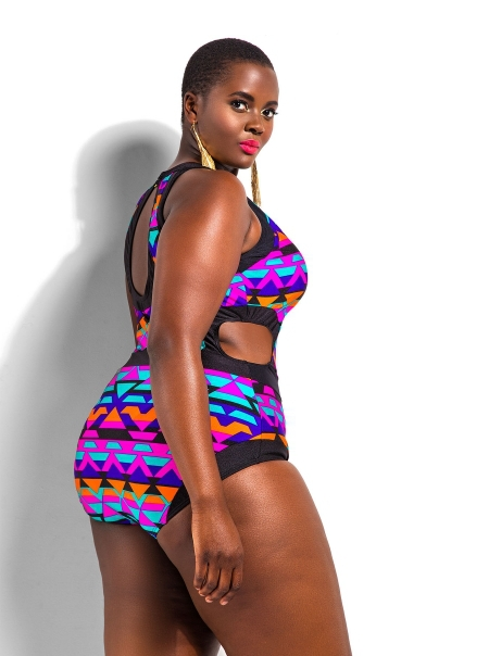 fcf902a9fd7f2 Get Quotations · L XL 2XL 3XL 4XL Plus Size One Piece Cut out Monokini  Swimsuit Plus Size High