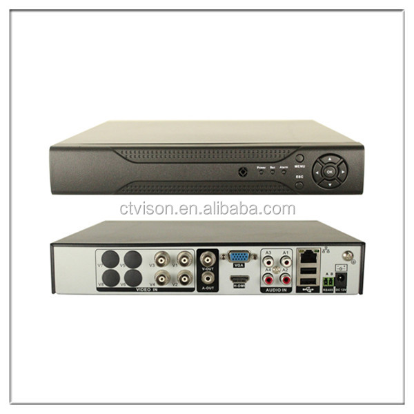 hotsale dvr main board 4 channel 960H / AHD 720P Hybrid DVR CCTV with Mobile Motion Detection and Quick QR Code Access