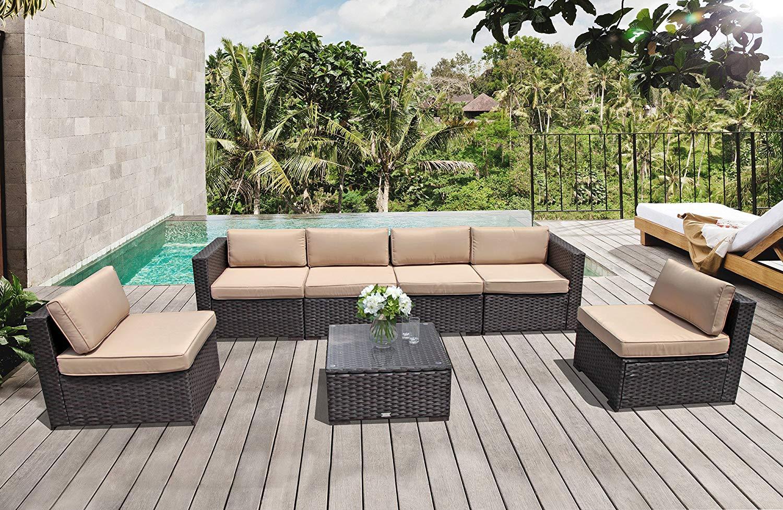 Get Quotations Super Patio Outdoor Furniture Set 7 Piece All Weather Resistant Conversation Sets