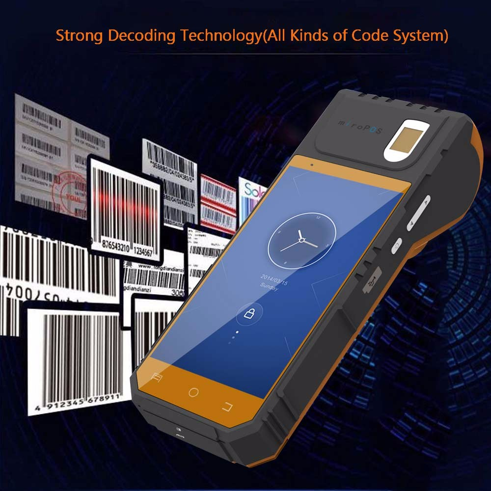 Smart 2D barcode scanner with printer