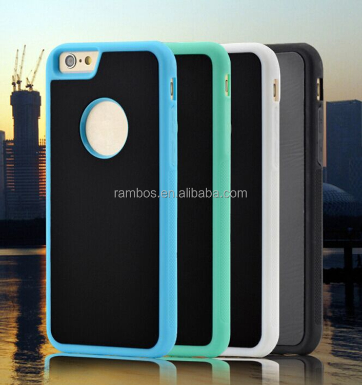 For iphone 6 Anti-Gravity Selfie Case Magic Nano Sticky Cell Phone Cover Hard Shell