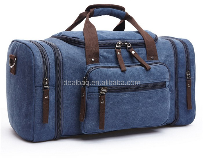 Famous designer 2016 brown big capacity canvas duffle travel bag for man hand bag