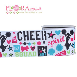 New arrival sports occasion custom printed grosgrain ribbon
