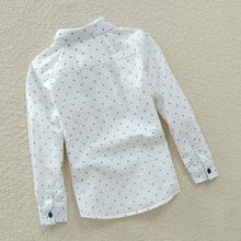 New 2015 Autumn Fashion Cotton Children Shirts for boys shirts England style Long sleeve boys clothes